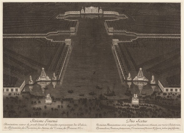Illuminations autour du grand Canal de Versailles