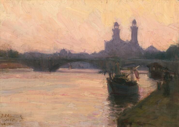 <p>Henry Ossawa Tanner, The Seine, c. 1902