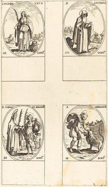 St. Anthony; St. Prisca; St. Germanicus;  Sts. Fabian and Sebastian