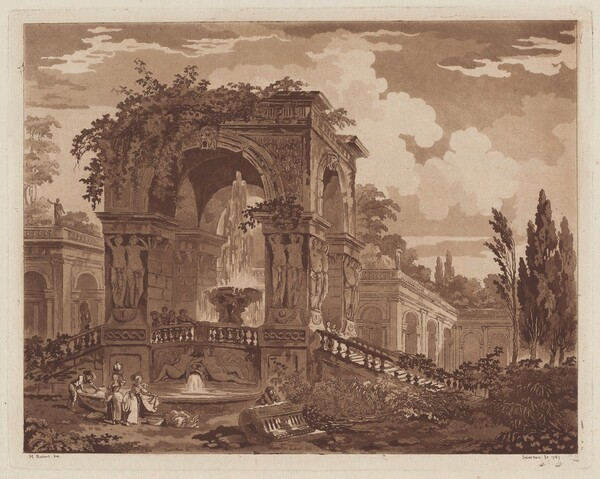 View of an Antique Fountain