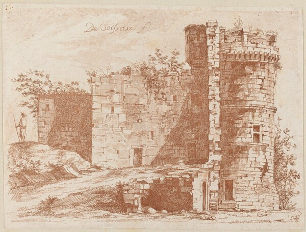 Ruins of an Old Castle at Saint-Chamond, Loire