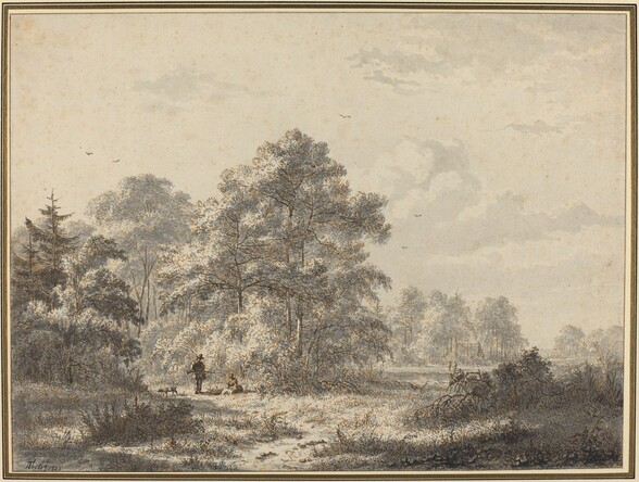 Hunters at the Edge of the Woods