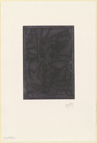 Untitled (Purple Mezzotint) [trial proof 1/2 (2nd element)]