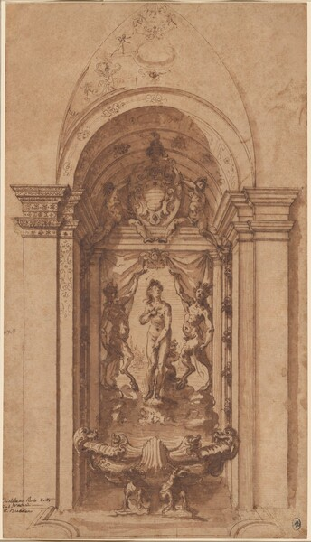 A Design for a Wall Decoration or Fountain