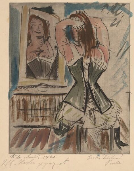 Woman at a Mirror