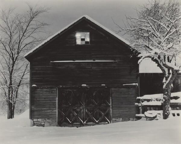 The Black Barn & White Snow
