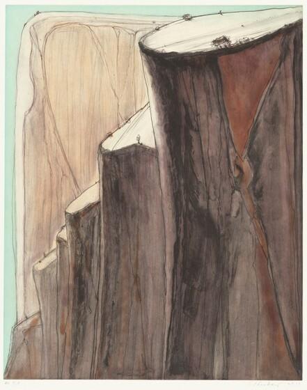 Wayne Thiebaud, Emily York, Crown Point Press, Canyon Bluffs, 20142014