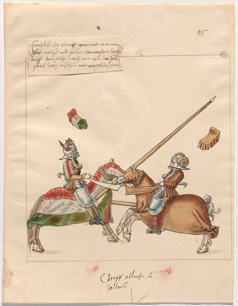 Freydal, The Book of Jousts and Tournament of Emperor Maximilian I: Combats on Horseback (Jousts)(Volume II): Graf Albrecht von Zollern Plate 85