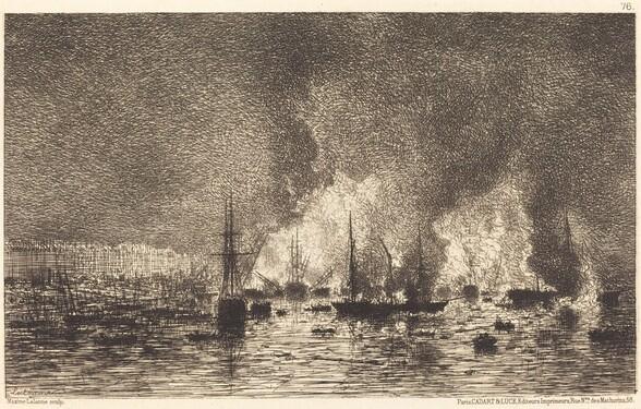 Incendie dans le port de Bordeaux