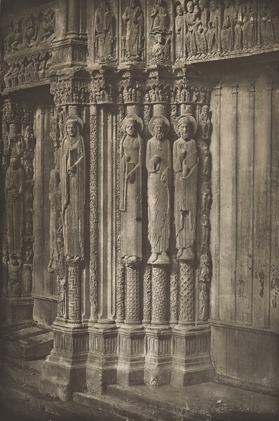 Chartres Cathedral. Right Door of the Royal Portal, West Side, XII Century