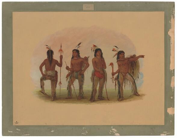 Four Navaho Warriors