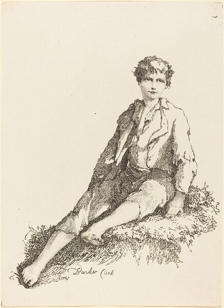 Young Boy Seated