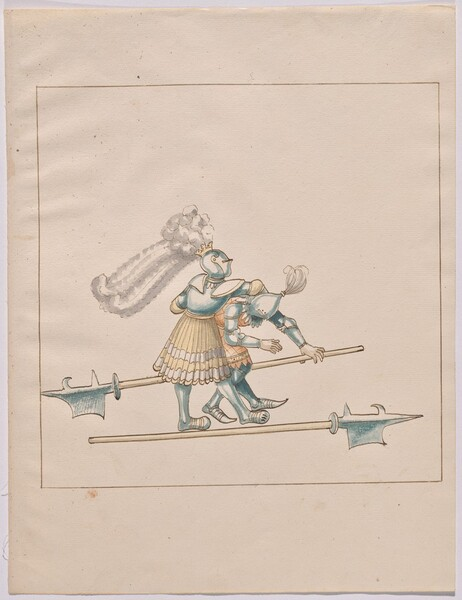 Freydal, The Book of Jousts and Tournament of Emperor Maximilian I: Combats on Foot (Jousts)(Volume III): Plate 137