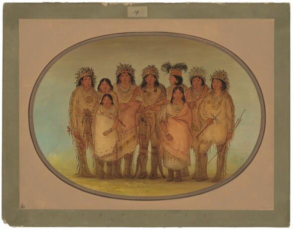 Nine Ojibbeway Indians in London