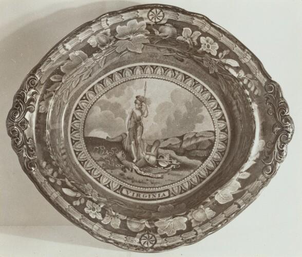 Flat Dish - Virginia State Arms