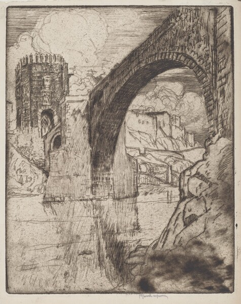 Arch of Bridge of Alcantara