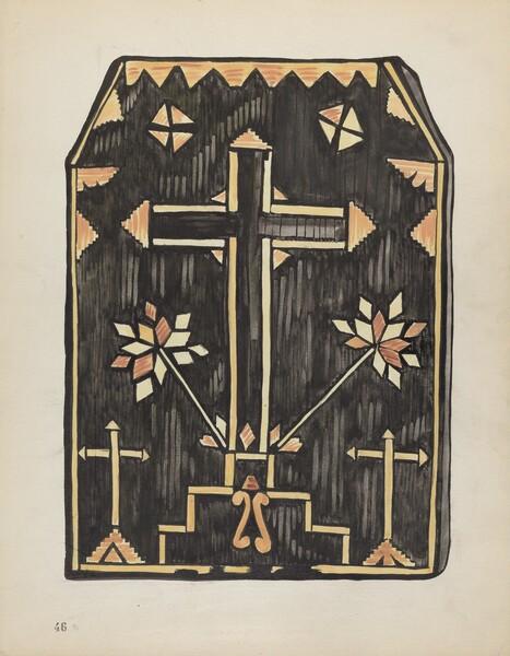 Plate 46: Straw Applique Design: From Portfolio Spanish Colonial Designs of New Mexico