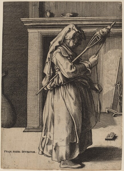 Old Woman with a Distaff