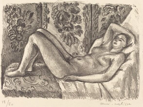 Reclining Nude with Louis XIV Screen (Nu couché au paravent Louis XIV)