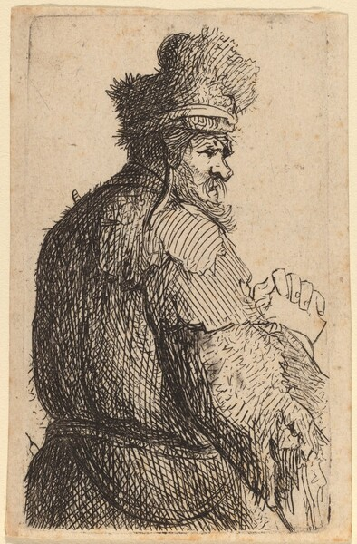 Old Man Seen from Behind, Profile to Right