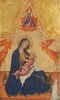 Madonna of Humility, The Blessing Christ, Two Angels, and a Donor [obverse]