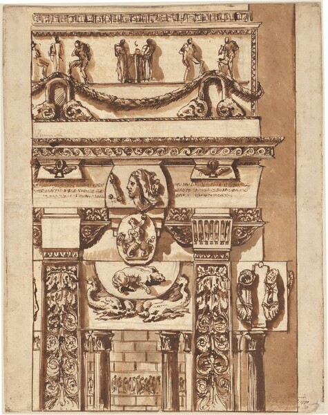 Fantasy of a Façade with Bizarre Ornaments