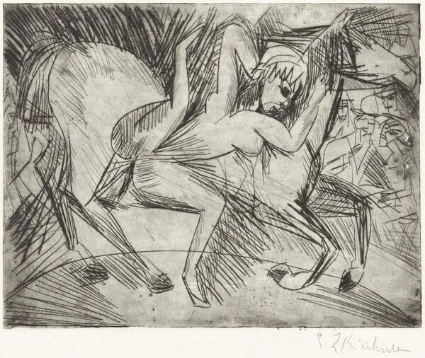 Acrobat on a Horse (Voltigeuse zu Pferd)