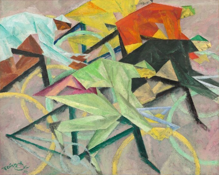 Lyonel Feininger, The Bicycle Race, 1912