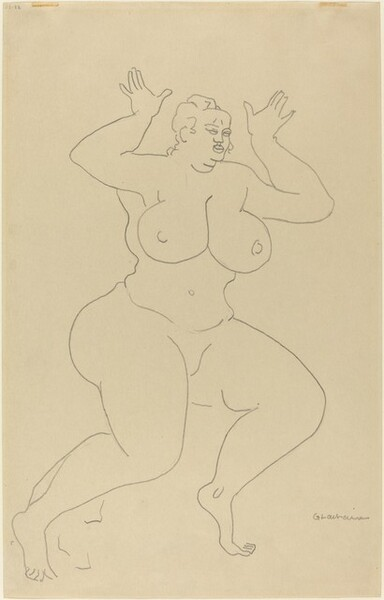 Nude with Her Hands Raised
