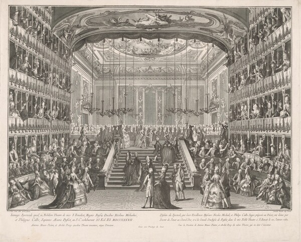 Spectacle in Honor of the Grand Dukes of Russia in the Theater of San Benedetto, 1782