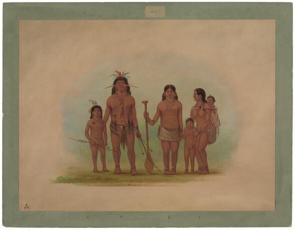 Orejona Chief and Family