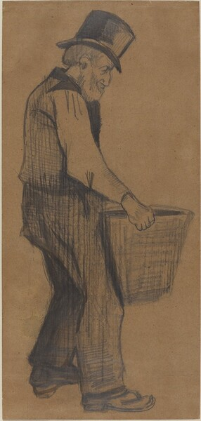 Old Man Carrying a Bucket