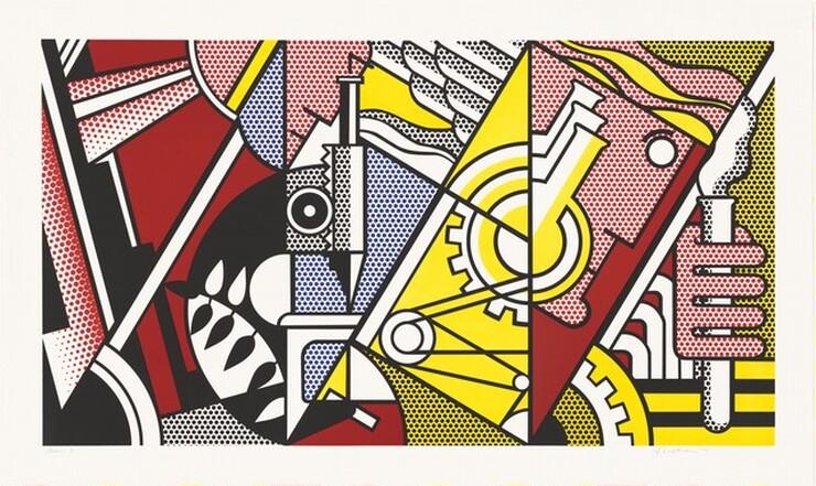Roy Lichtenstein, Peace Through Chemistry I, 1970
