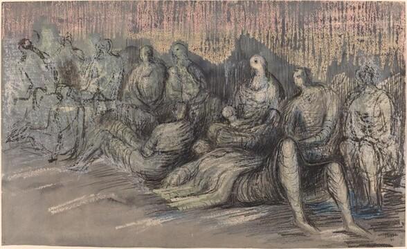 Figures in an Underground Shelter