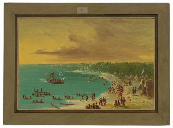 First Sailing of the Griffin on Lake Erie.  August 7, 1679