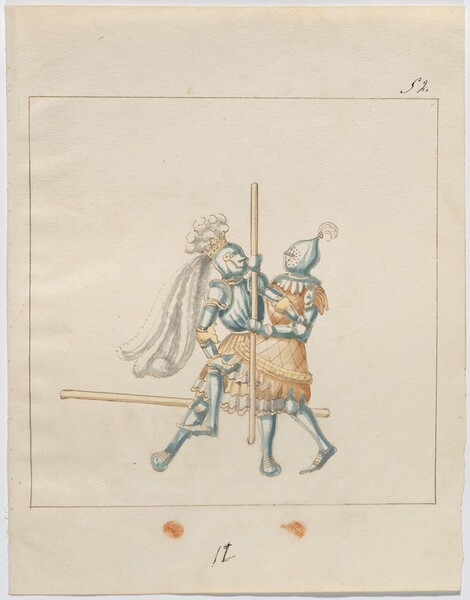 Freydal, The Book of Jousts and Tournament of Emperor Maximilian I: Combats on Foot (Jousts)(Volume III): Plate 134