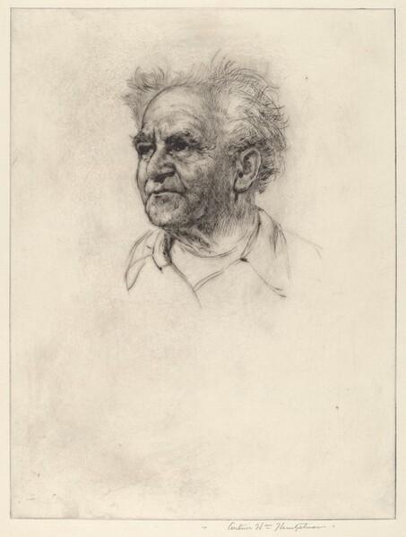 Portrait of David Ben Gurion (no. 3)