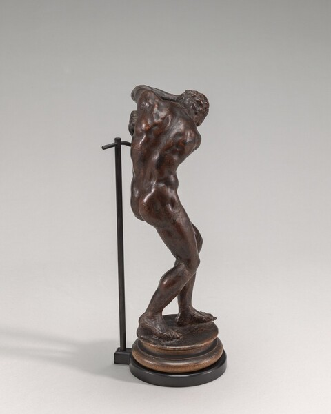 Male Nude Standing in a Fearful Pose