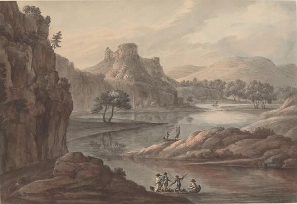 River Landscape with a Castle