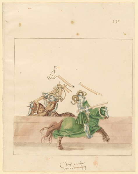 Freydal, The Book of Jousts and Tournament of Emperor Maximilian I: Combats on Horseback (Jousts)(Volume II): Gf Andre von Sonnenberg, Plate 120