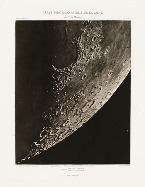 Carte photographique de la lune, planche XVII.A (Photographic Chart of the Moon, plate XVII.A)