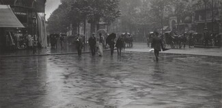 image: A Wet Day on the Boulevard, Paris