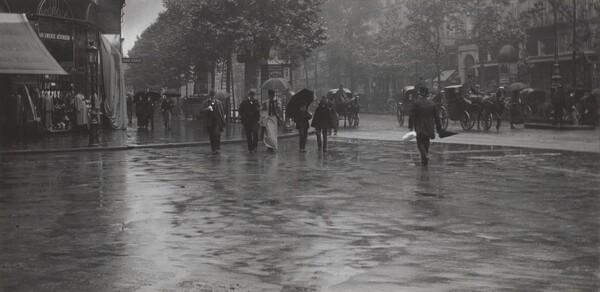 A Wet Day on the Boulevard, Paris