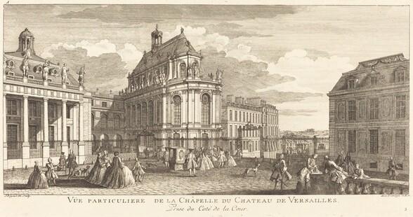 Vue Particuliere de la Chapelle du Chateau deVersailles