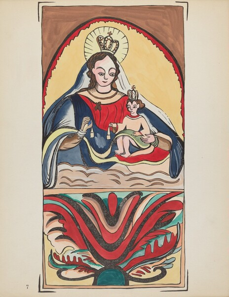 Plate 7: Our Lady of Mt. Carmel: From Portfolio Spanish Colonial Designs of New Mexico