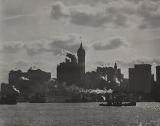 image: Singer Building from Hudson River