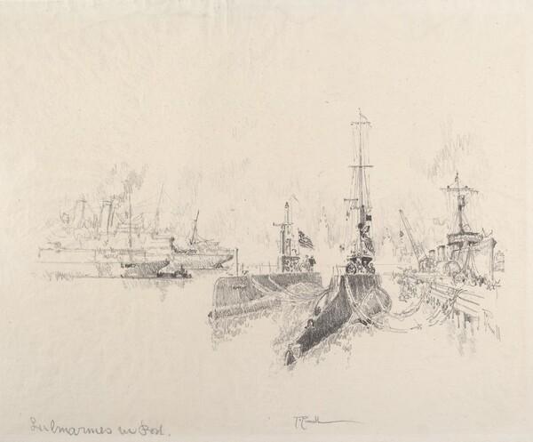 Submarines in Port