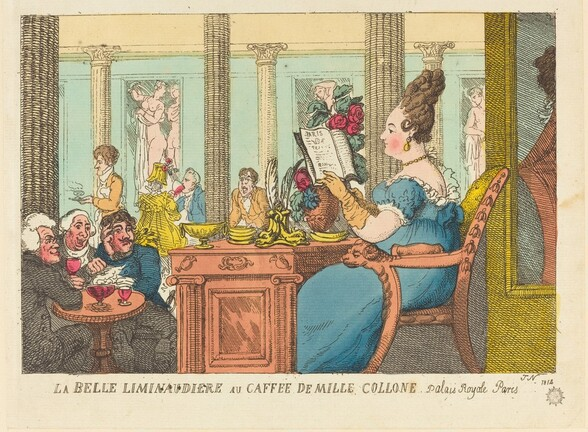 La Belle Limonaudiere au Cafe des Mille Colonnes, Palais Royal, Paris