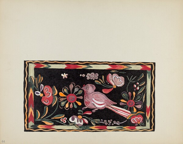 Plate 44: Painted Chest Design: From Portfolio Spanish Colonial Designs of New Mexico