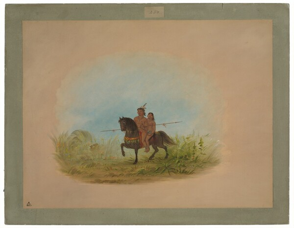 Bride and Groom on Horseback - Connibo